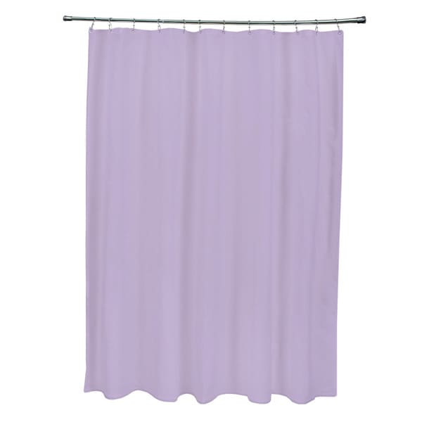 Lilac Purple Solid Shower Curtain
