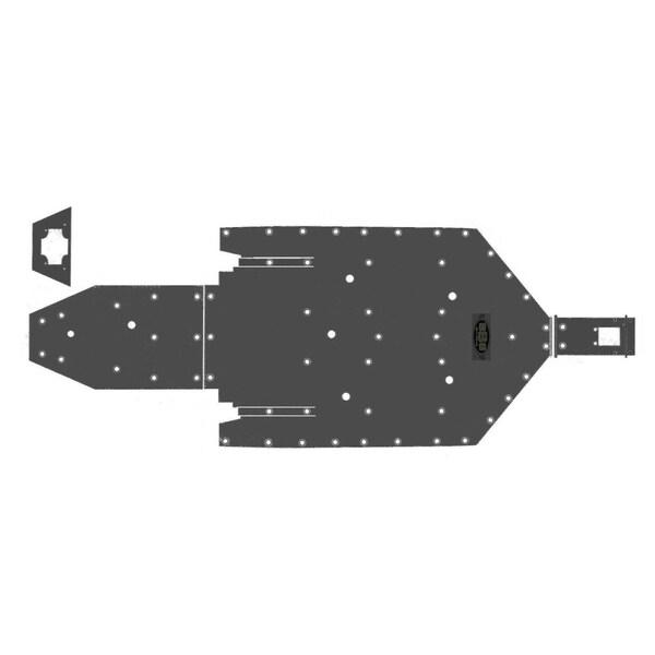 SSS Off Road Polaris RZR 1000 4 UHMW Skid Plate Underbody