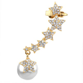 Star Faux Pearl Ear Cuff for Left Ear