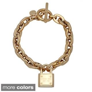Michael Kors Square-link Chain Padlock Bracelet