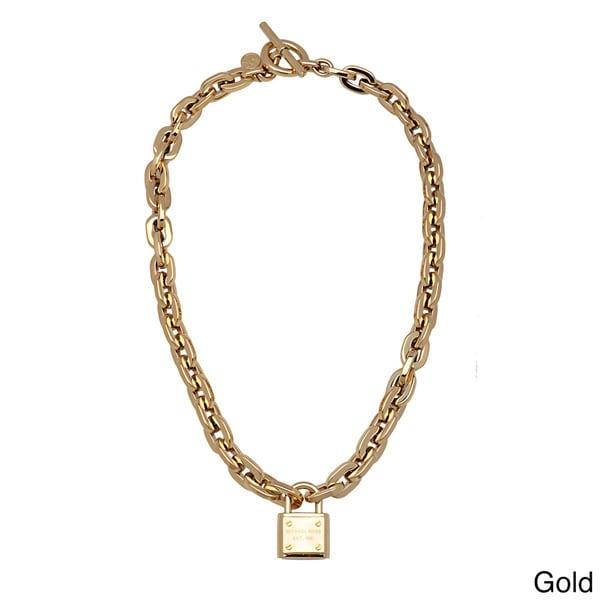 Michael Kors Link Toggle Padlock Necklace