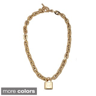 Michael Kors Link Toggle Padlock Necklace
