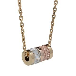 Michael Kors Goldtone Baguette and Pave Crystal Necklace
