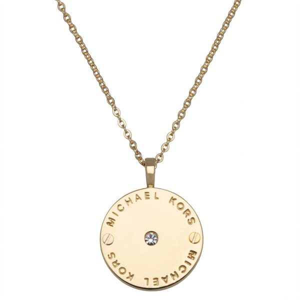 Michael Kors Disc Pendant Necklace