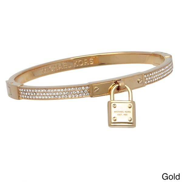 Michael Kors 'Brilliance' Lock Pave Hing Bangle