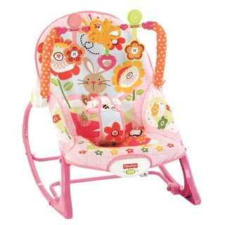 Fisher-Price Pink Bunny Infant-to-Toddler Rocker