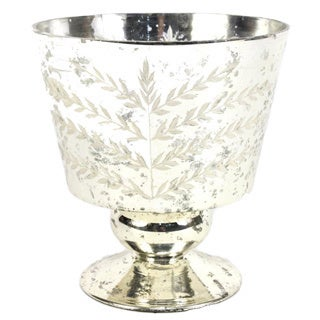 Sage & Co 5.5-inch Etched Mercury Glass Hurricane