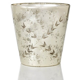 6-inch Etched Mercury Glass Vase