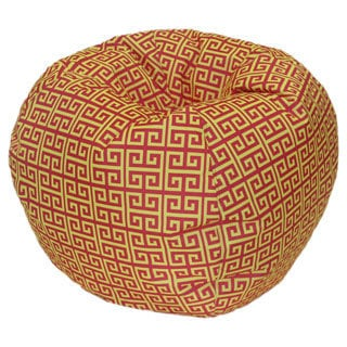 Egyptian Mod Red and Yellow Bean Bag Chair