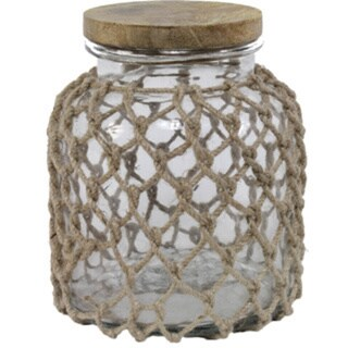 Sage & Co 12-inch Clear Glass Jug With Jute Netting