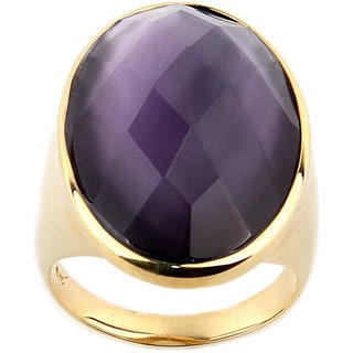 Goldplated Purple Crystal Ring