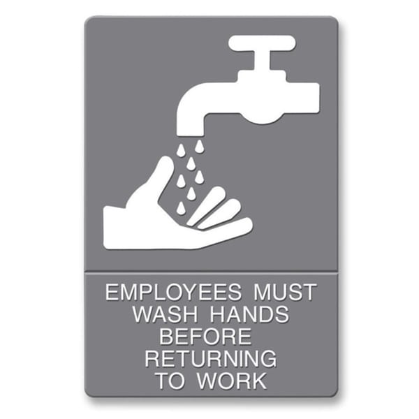 U.S. Stamp & Sign ADA Plastic Wash Hands Sign 14171131