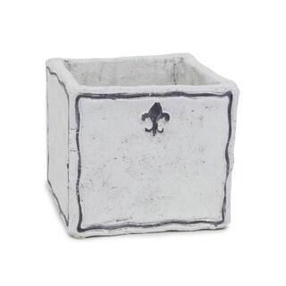 Sage & Co White Square Cement Fleurs Planter