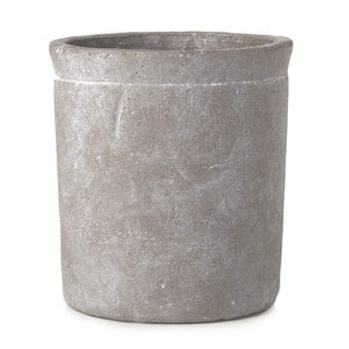Sage & Co 6-inch Round Medium Stone Cylinder Pot