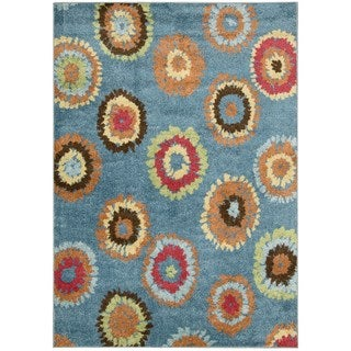 Nourison Perception Blue Abstract Rug (7'9 x 10'10)