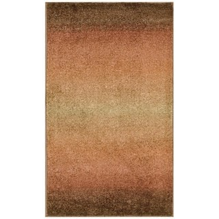 Nourison Perception Rust Abstract Rug (7'9 x 10'10)