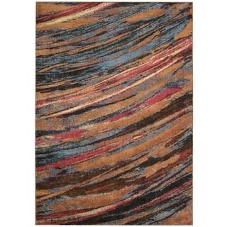Nourison Perception Multicolor Abstract Rug (5'3 x 7'5)