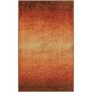 Nourison Perception Rust Abstract Rug (5'3 x 7'5)