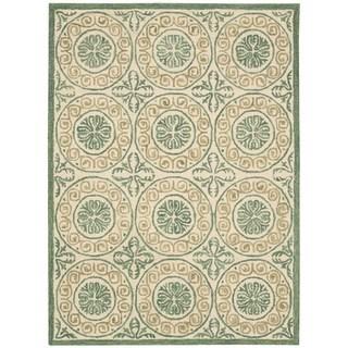 Nourison Marina Ivory Patterned Area Rug (5' x 7'6)