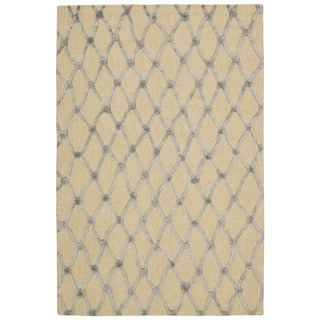Nourison Strata Ivory Blue Graphic Rug (8' x 10')