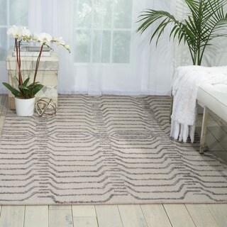 Nourison Strata Silver Grey Graphic Rug (8' x 10')