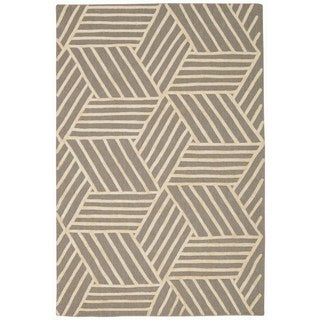 Nourison Strata Silver Ivory Graphic Rug (8' x 10')