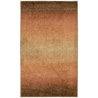 Nourison Perception Rust Abstract Rug (2'3 x 7'6)