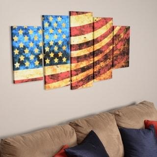 God Bless America Flag' Canvas Art Set