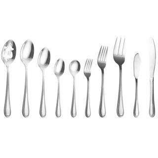 Contemporary Stainless Steel 45-piece Silverware Set