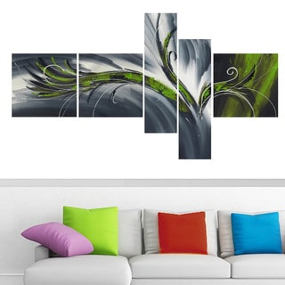 Abstract Thought' 5-piece Gallery-wrapped Canvas Print Art