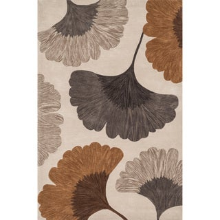 Hand-tufted Eve Leaves Rug (3'6 x 5'6)