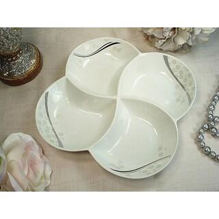 D'Lusso Designs Shimmer Design 4-section Dish