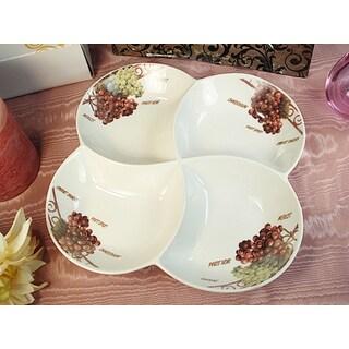 D'Lusso Designs Grape Design 4-section Dish
