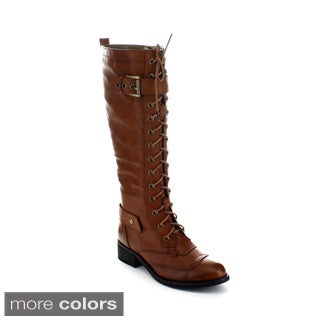 Jacobies Moya-1 Women's Lace-up Knee-high Combat Boots
