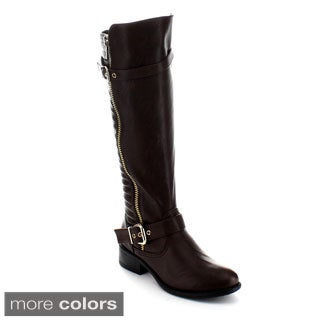 Jacobies Justina-2 Women's Knee-high Quilted Riding Boots