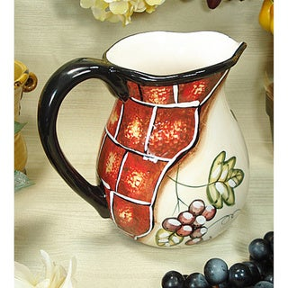 D'Lusso Designs Wine Cheese Collection Ceramic Pitcher