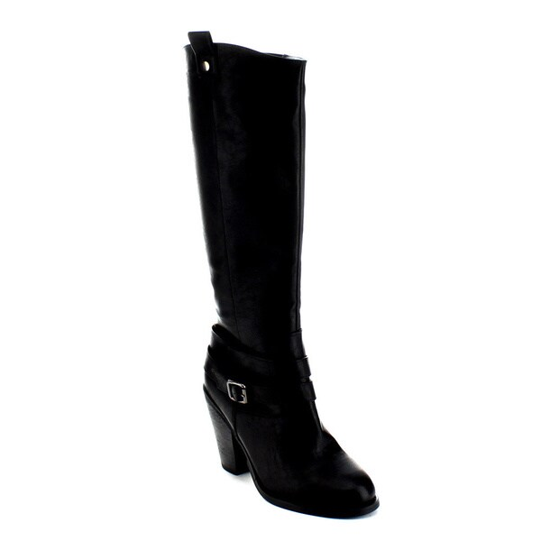 Jacobies Ester-3 Women's Double Ankle Strap Knee-high Boots