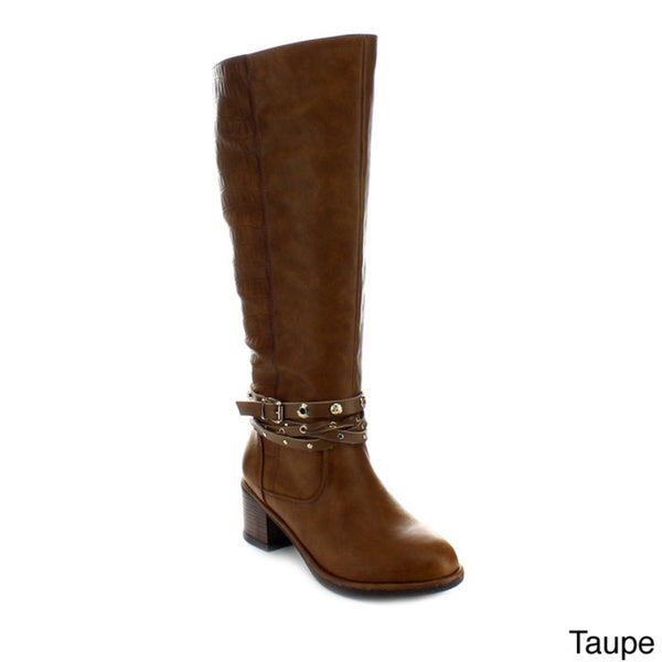 Jacobies Clark-2 Women's Ankle Straps Knee-high Riding Boots