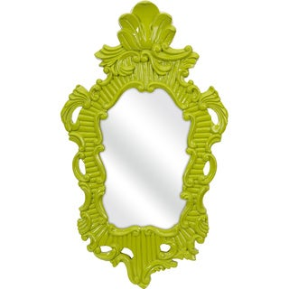 Finely Green Baroque Wall Mirror