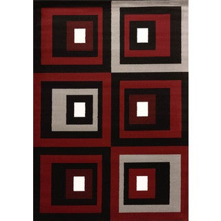Cristall Shakira Red Area Rug (7'10 x 10'6)