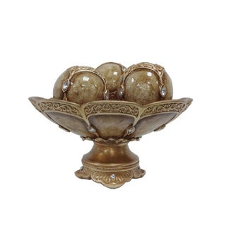 D'Lusso Designs Seville Collection 4-piece Bowl with 3 Orbs Set