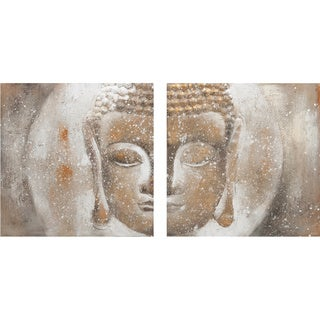 Texturized Buddah Oil on Canvas