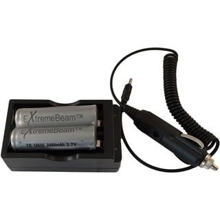 ExtremeBeam 18650 Double Battery Charger Kit