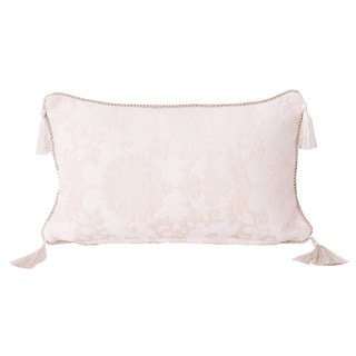 Evelyn Bullion Cord and Tassels Damask Throw Pillow