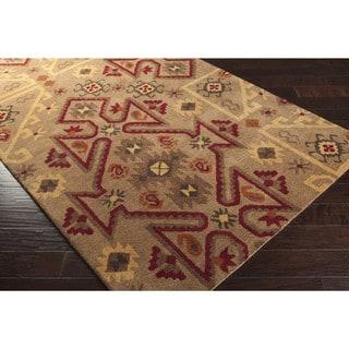 Hand-tufted Effie Tan Southwestern Wool Rug (2'6 x 8')