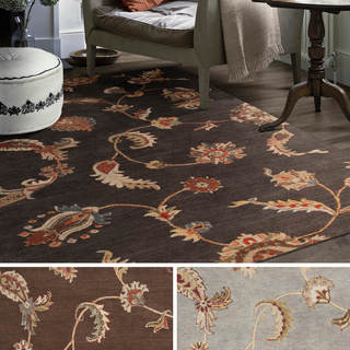 Hand-tufted Roth Floral Wool Rug (9' x 13')