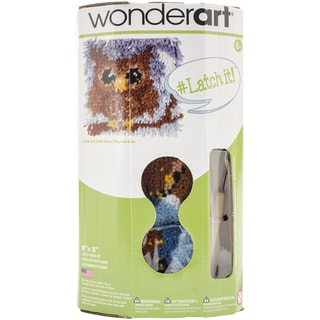 """Wonderart Latch Hook Kit W/Tool 8""""X8""""-Little Owl"""