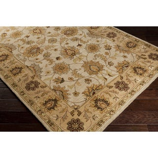 Hand-Tufted Carolyn Wool Floral Area Rug (3' x 12')