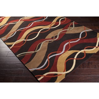 Hand-Tufted Ann Wool Abstract Area Rug (9'9 Square)