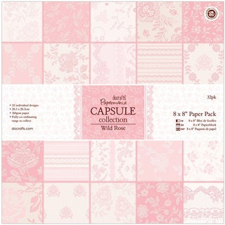 "Papermania Paper Pack 8""X8"" 32/Pkg-Wild Rose"